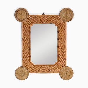 Bamboo and Rattan Mirror by Arpex, 1970s