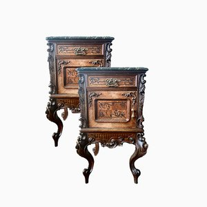 Rosewood Nightstands, Set of 2