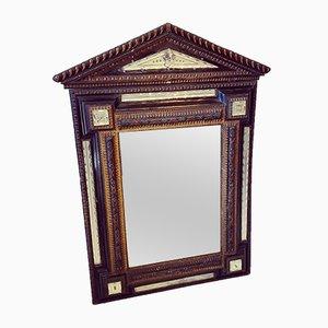 Französischer Ebonisierter und Vergoldeter Murano Glas Spiegel, 19. Jh