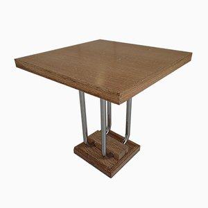 Art Deco Bleached Oak Side Table, 1930s