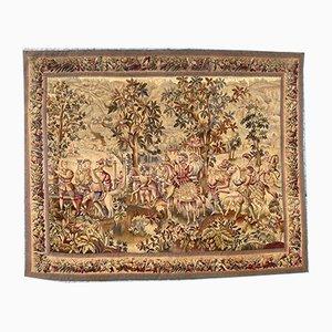 Antiker französischer Aubusson Wandteppich
