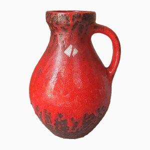 Brutalist Red Lava Vase from Carstens Tönnieshof, 1960s