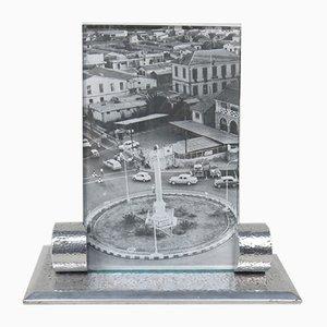 Art Deco Bilderrahmen aus gehämmertem Aluminium, 1930er