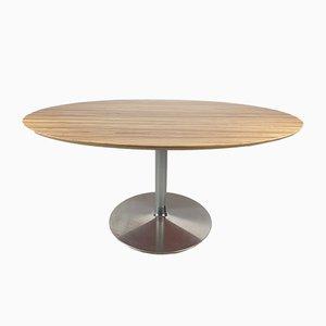 Ovaler Esstisch von Pierre Paulin für Artifort, 1980er