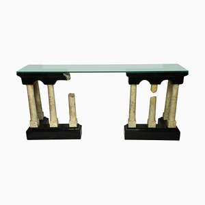 Marble Roman Ruins Console Table, 1950s