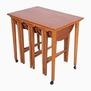 Tables Gigognes Mid-Century par Poul Hundevad pour Novy Domov, Danemark, 1960s