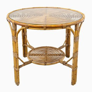 Vintage Bamboo Table, 1970s