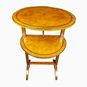19th Century Louis XVI Style Thuya Root Pedestal Table