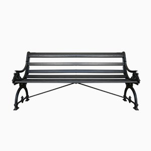 Antique Park Garden Bench in Anthracite