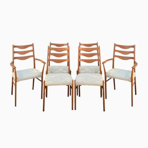 Mid-Century Danish Dining Chairs by AM Moble for AM Mobelfabrik, 1970s, Set of 6