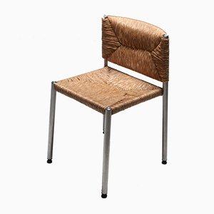 Chaise d'Appoint Rustique en Algue et Aluminium, 1980s