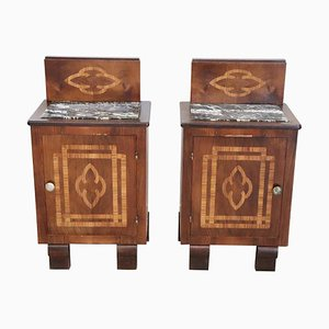 Art Deco Nightstands, 1940s, Set of 2