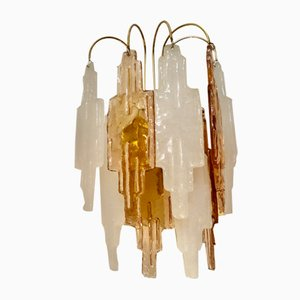 Bicolor Glass Sconces by Poliarte for Mazzega, 1970s, Set of 2