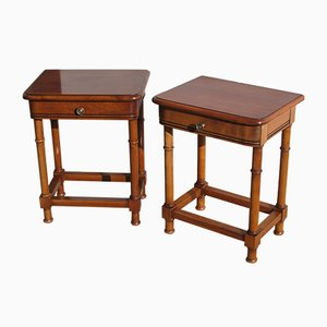 Cherrywood Nightstands, 1980s, Set of 2