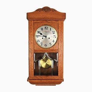 Vintage Victorian Style Oak Wall Clock by Carl Jönsson, 1920s