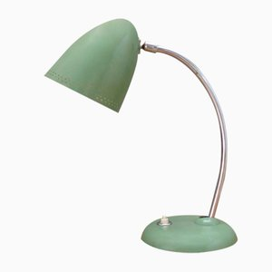Green Lacquer and Chrome-Plated Flexible Table Lamp, 1950s