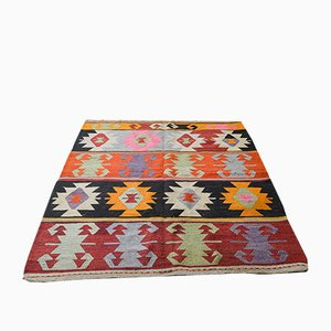 Mid-Century Turkish Wool Kilim Rug, 1950s