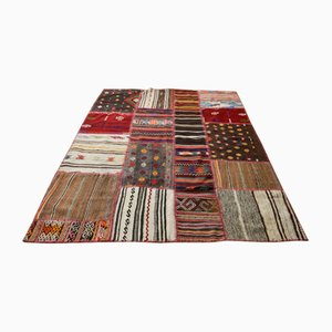 Türkischer Mid-Century Kelim Teppich aus Wolle, 1980er