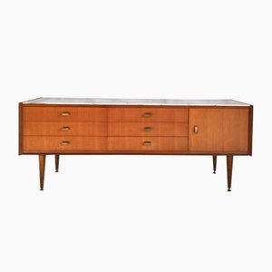 Sideboard with Marble Top, 1960s