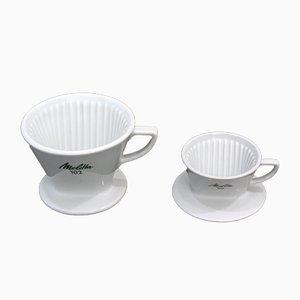 Porcelain Drippers by Melitta Bentz for Melitta, 1970s, Set of 2