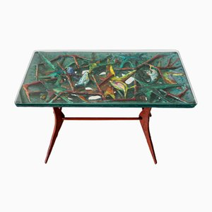 Mid-Century Italian Ceramic Coffee Table from Ceramiche San Polo, 1950s