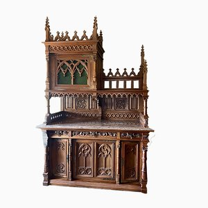 Vintage Gothic Style Cabinet, 1930s