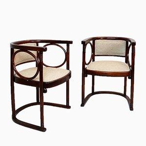 Antike Wiener Secession Stühle von Josef Hoffmann, 1900er, 2er Set