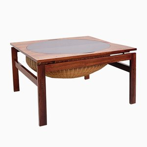 Brazilian Rosewood Sewing Table, 1960s