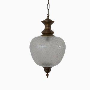 Mid-Century Italian Distorted Glass Pendant Lamp, 1990s