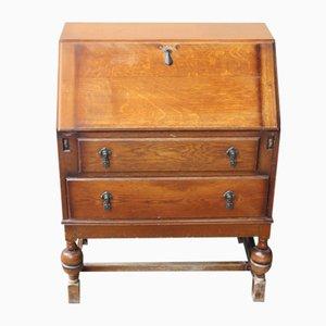 Small Neat Golden Oak Desk, 1940s