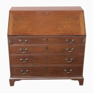 Mahogany Bureau with Good Interior, 1850s