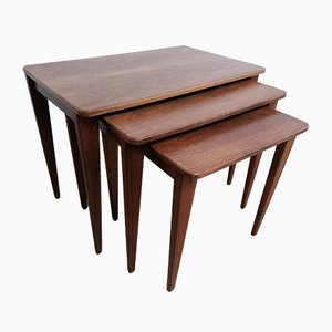Mid-Century Walnut Nesting Tables from Gordon Russell, 1950s