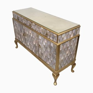 Vintage Gold and Oyster Bethan Gray Decoupage Sideboard