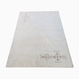 Handgeknüpfter marokkanischer Handgemachter Beni Ourain Teppich aus Wolle