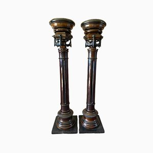 Antique Neoclassical Columns, Set of 2