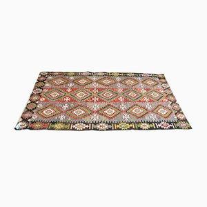 Türkischer Multifunktionaler Antalya Kilim Teppich aus Wolle, 1950er