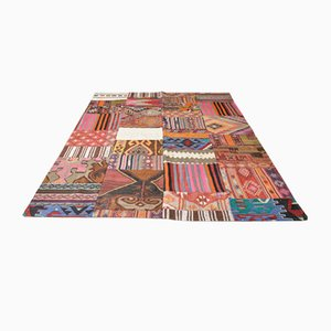 Mid-Century Turkish Patchwork Wool Kilim Rug, 1980s