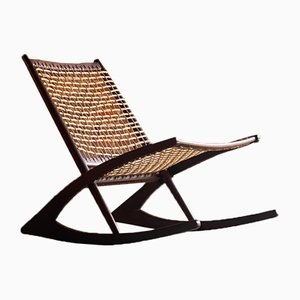Norwegian Teak and Rosewood Model 599 Rocking Chair by Frederik Kayser for Vatne Møbler, 1950s