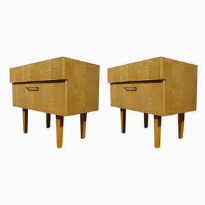 Vintage Cherry Wood Drawer Cabinets, 1970s, Set of 2