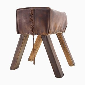 Industrial Leather Gymnastic Seat, 1960s