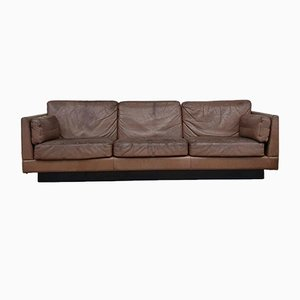 Mid-Century Semi-Sheer Leather Sofa by Georg Thams for Kavlitet