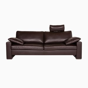 Dark Brown Leather Zara 3-Seat Function Sofa from WOH