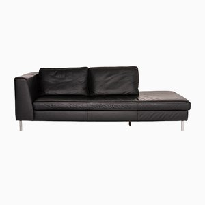 Black Leather Domino 2-Seat Sofa from Ewald Schillig