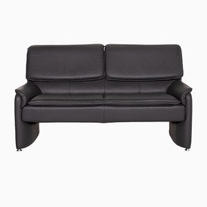 Grey Leather Carlos 2-Seat Function Sofa from Laauser