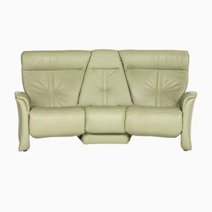Pistachio Green Leather 3-Seat Relax Function Sofa from Himolla