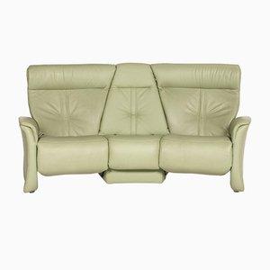 Sofá relajante Relaxon de tres asientos de cuero verde pistaqui de Himolla