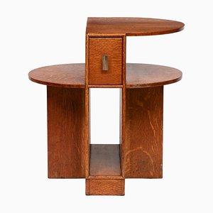 Art Deco Oak Side Table, 1930s