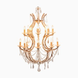 Vintage French Maria Theresa Birdcage Chandelier, 1940s