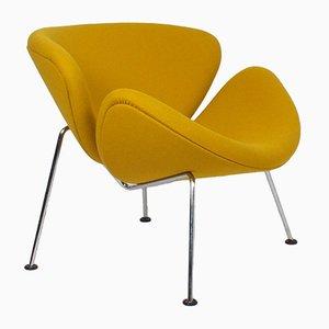 Sillón Slice en amarillo anaranjado de Pierre Paulin para Artifort, años 60