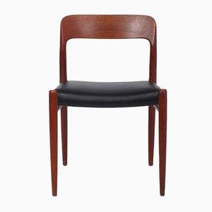 Model 75-JL Dining Chairs by Niels O. Møller for J.L. Møllers, 1950s, Set of 4